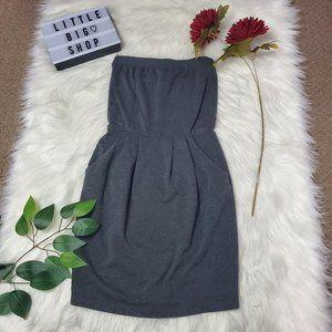 Charlotte Russe Gray Strapless Mini Dress/Size XS